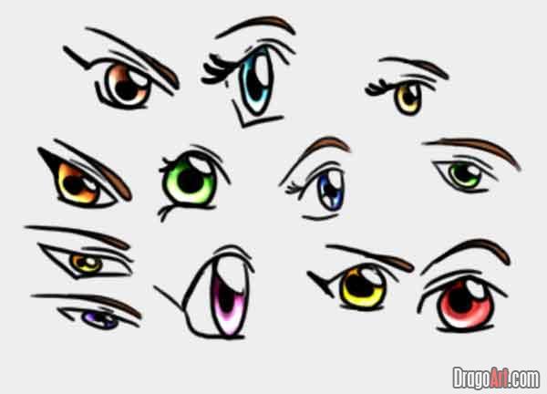 Как рисовать глаза - Уроки